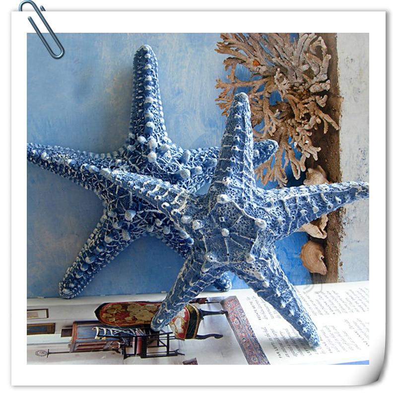 Mediterranean Style Home Decoration Resin Five Fingers Starfish Simulation Real Pentagonal Starfish Ornaments Wall Ornament