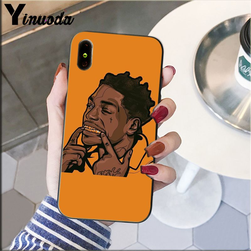 Image 4 - Yinuoda Kodak Black Rapper Soft Silicone black Phone Case for Apple iPhone 8 7 6 6S Plus X XS MAX 5 5S SE XR Cellphones-in Half-wrapped Cases from Cellphones & Telecommunications