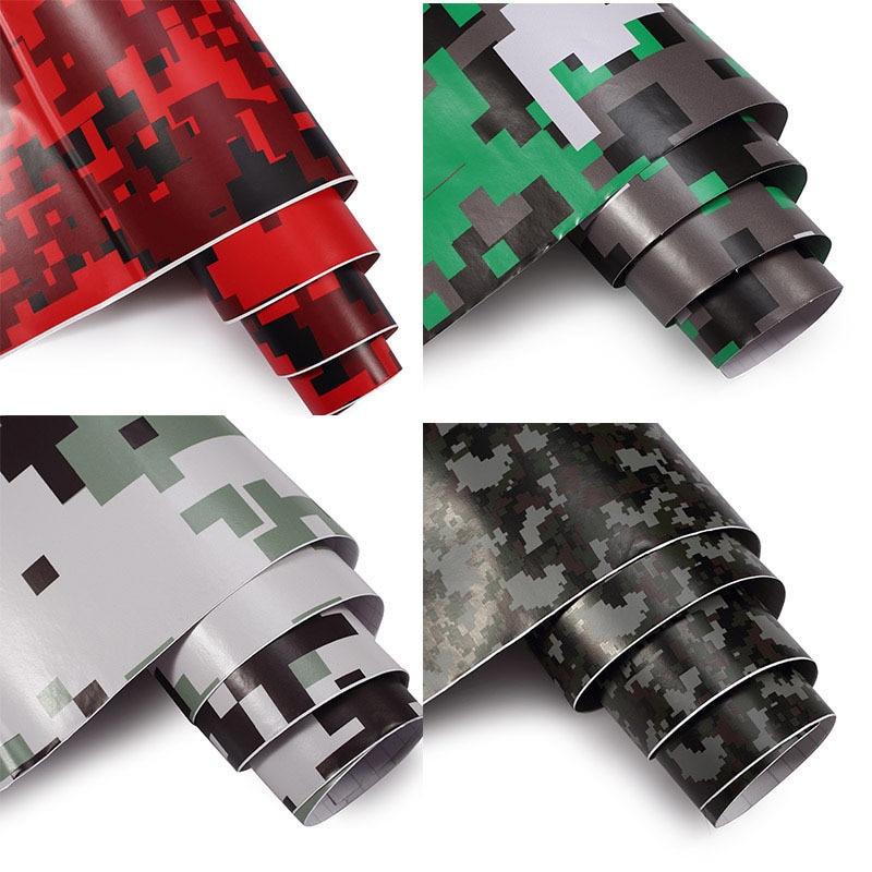 50cm Width Camouflage Vinyl PVC Car Sticker Wrap Film Digital Woodland Army Military Green Camo Desert Decal For Auto Motorcycle