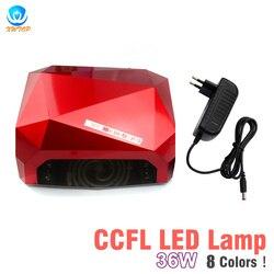 Automaatic الاستشعار 36 W CCFL مصباح طلاء الأظافر بأشعة فوقة البنفسجية يمكن مجفف جميع هلام البولندية آلة مسمار أدوات الرسم