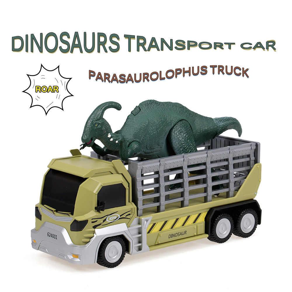 Khủng long Vận Tải Ô Tô Tàu Sân Bay Đồ Chơi Xe Parasaurolophus Lại Kéo Về Khủng Long Xe Ô Tô Quà Tặng cho Trẻ Em RC Phần