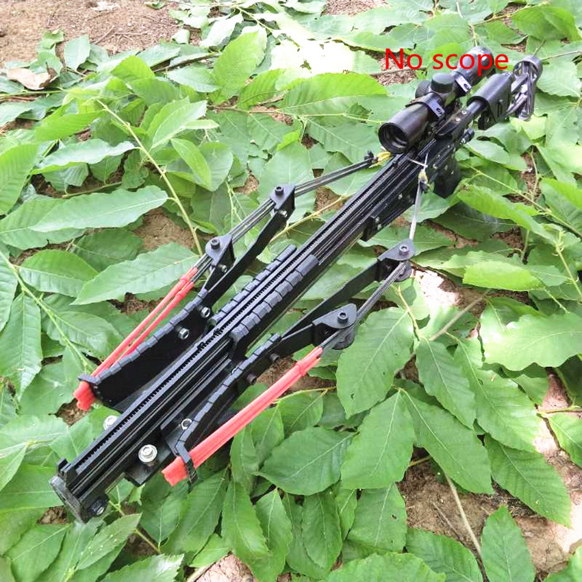 Neptune 15 Slingshot Rifle Metal Hunting Catapult Continuous Shooting 40-rounds Ammo and Arrow
