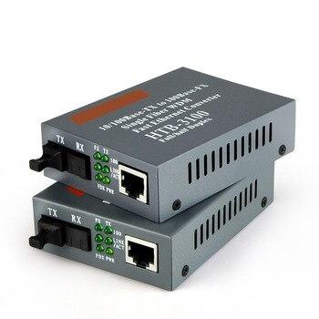 1 par Rápido Ethernet Media Converter 10/100 Mbps Bi-Direcional De Fibra SC Single-mode de Fibra Óptica conversor de mídia de até 25 km