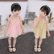 Kids Girls Clothing Sets Brand Summer Baby Girls Clothes Cotton Sling Tops Shirt+Shorts Pant Dress 2Pcs Children Clothes Suits