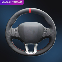 Car Braid On The Steering Wheel Cover for Peugeot 308S Peugeot 2008 Hand-stitched DIY Car-styling Auto Steering Wheel Covers shining wheat hand stitched car steering wheel cover for suzuki jimny car special