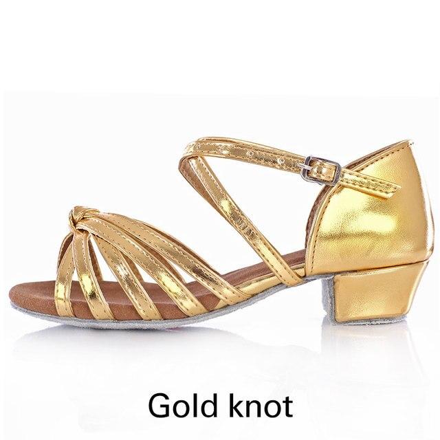 UK Stock Latin Dance Shoes Women Children Indoor Dance Shoes Soft Sole Low Heels