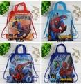 4 Unids Super Mario Spiderman Partido Bolsa de Compras Bolsos de Escuela Los Niños Mochila Lazo de la Historieta Mochila Mochila de Impresión de Regalo