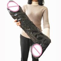 Фаллоимитатор Модель 12 кг тяжелый Большой симуляционный дилдо с член женский мастурбатор игрушки практичный член для анального секса Секс