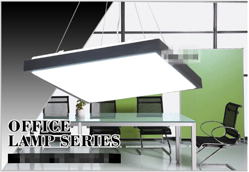 Modern aluminum 480*480MM flat panel led lighting  ultra-thin office pendant light supermarket panel light Free Shipping modern office light pendant lights simple led office long strip aluminum rectangular commercial lighting market ultra thin lamps