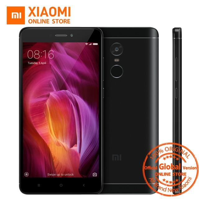 """Глобальная версия Xiaomi Redmi Note 4 мобильный телефон 3 ГБ оперативной памяти 32 ГБ ROM Snapdragon 625 Восьмиядерный процессор 5.5 """"1080 P дисплей 13MP FCC CE"""