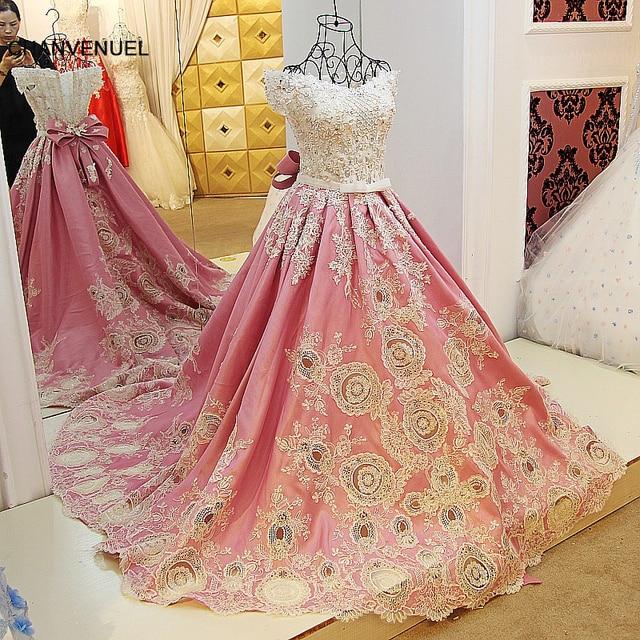 377ea0cf48 LS01547 arabskie suknie wieczorowe sukienki satynowe aplikacje koronki suknia  balowa sweetheart gorset powrót abendkleider 2017 100