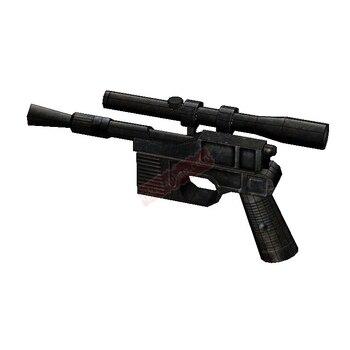 3D Paper Model Star Wars 1:1 handheld DL-44 blaster pistol decoration