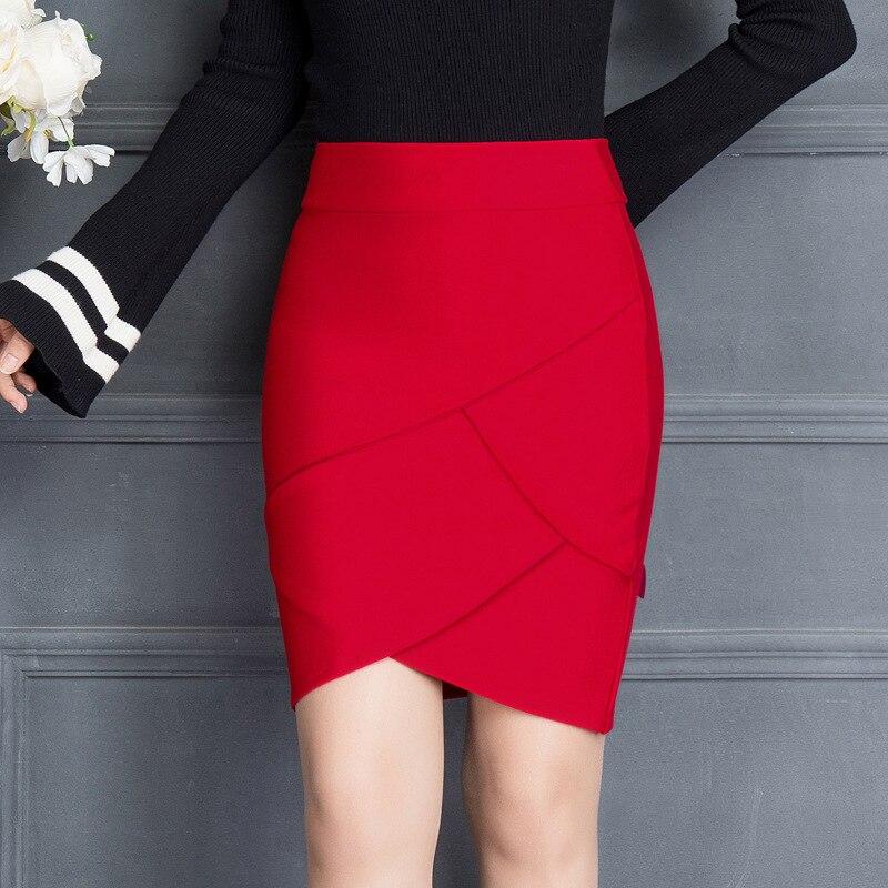 666.29руб. 35% СКИДКА|Женская обтягивающая юбка, черная и красная, с высокой талией, 2019|work skirts|hip skirt|women work skirts - AliExpress