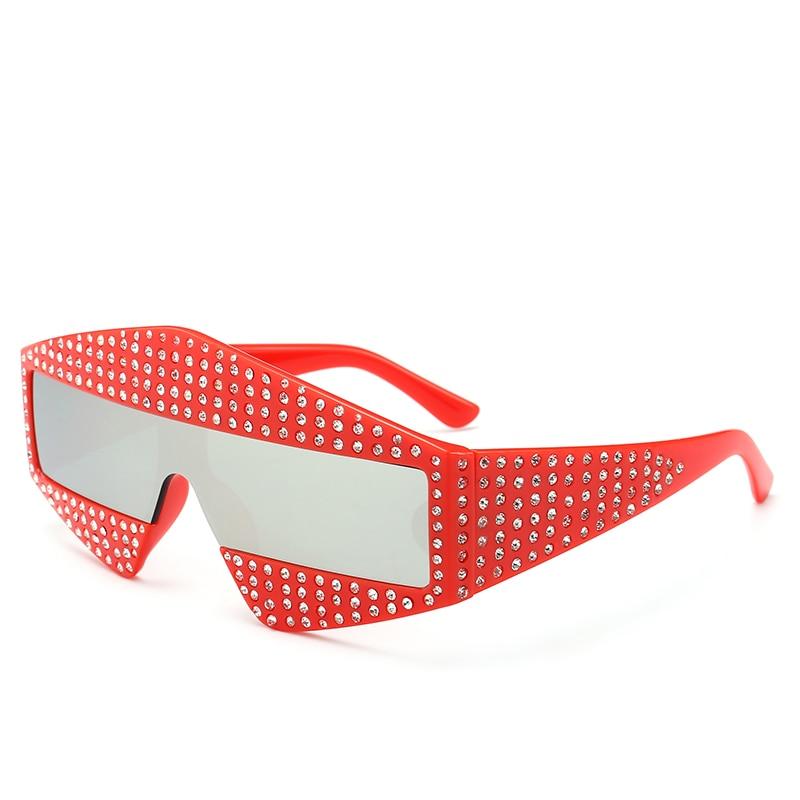 07567b3c2bf689 2018 marque de luxe lunettes de soleil femmes haute qualité rouge décision  lunettes surdimensionné lunettes de soleil lady conduite nuances lunette de  ...
