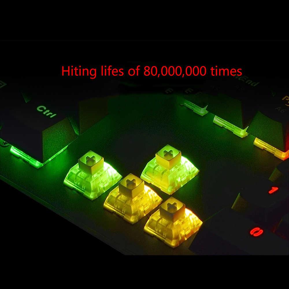Bàn Phím Ajazz AK45 111 Phím USB3.0 Có Dây Đèn Nền RGB Bàn Phím Cơ Hộp Thiết Bàn Phím Chơi Game Cho LOL Dota 2 CS GO