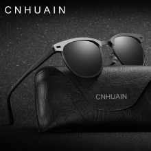 CNHUAIN Brand Shades Driver Driving Glasses Mens Sunglasses Polarized UV400 Square Sun Glasses For Men Women oculos 2017 New