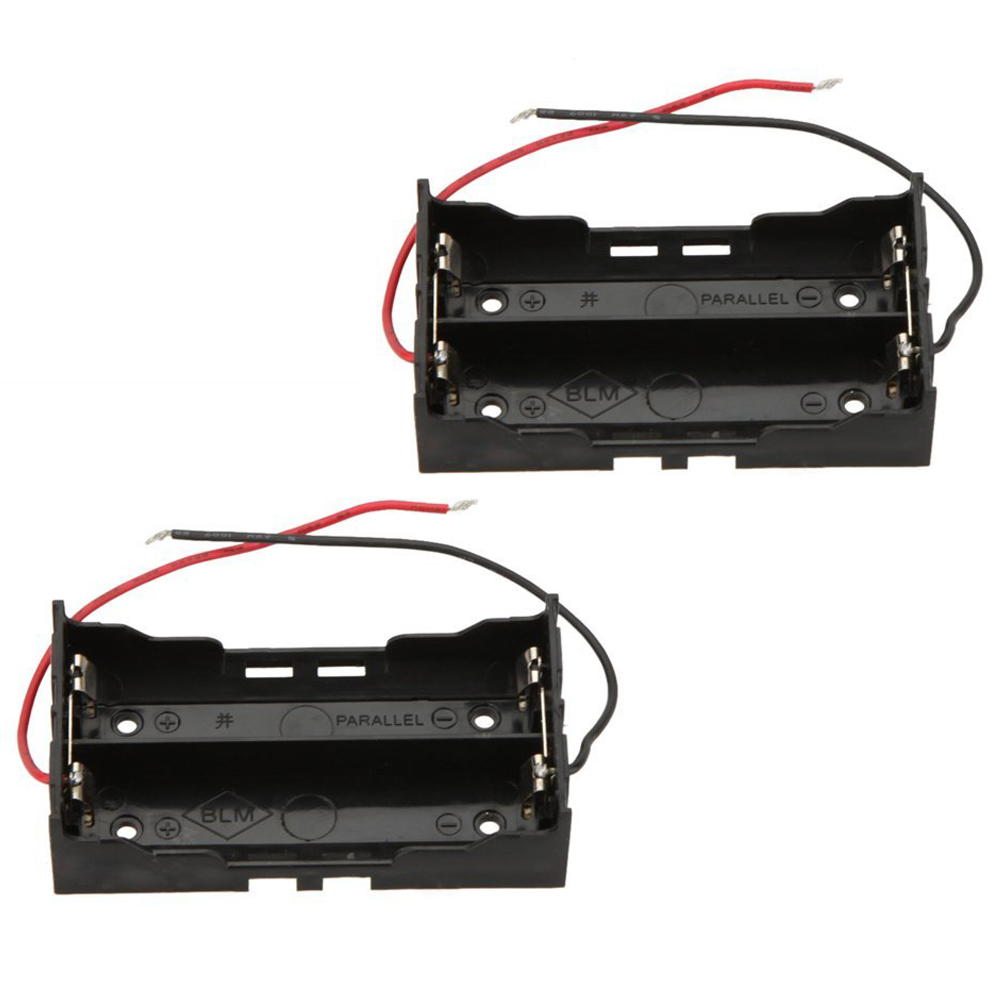 1pcs Battery Storage Box For 2 X 18650 In Parallel Connection Wired Wiring Batteries Edt Piece Case Holder Lithium