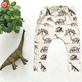 7-24M Baby Dinosaur Pattern Kids Harem Pants Cotton Trousers For Baby Boys Infant Casual Girls Leggings Autumn Clothes