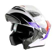 Мотоциклетный откидной гоночный шлем мото двойные козырьки КАСКО модульные емкости шлем мотоциклетный шлем точка утверждения Cyclegear CG902