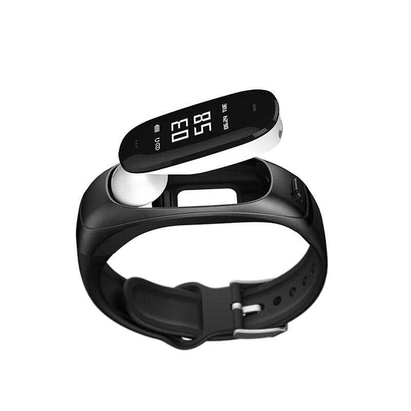 Smart band V08S Smart armband waterdichte oortelefoon bloeddruk sensor Slaap Tracker Hartslag Test Voor Android ios PK mi 2/3