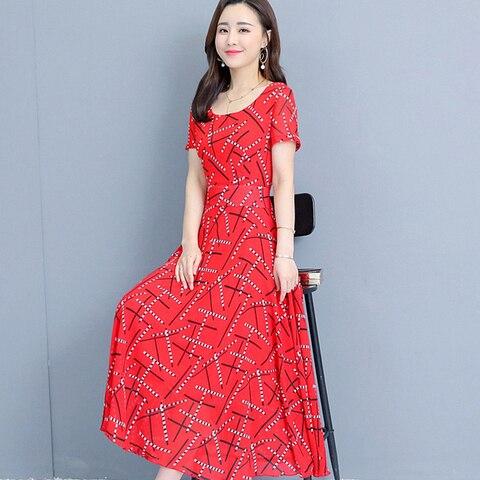 Women Short Sleeve Dresses Print Summer Dress 2019 Fashion Casual Summer Dress Islamabad