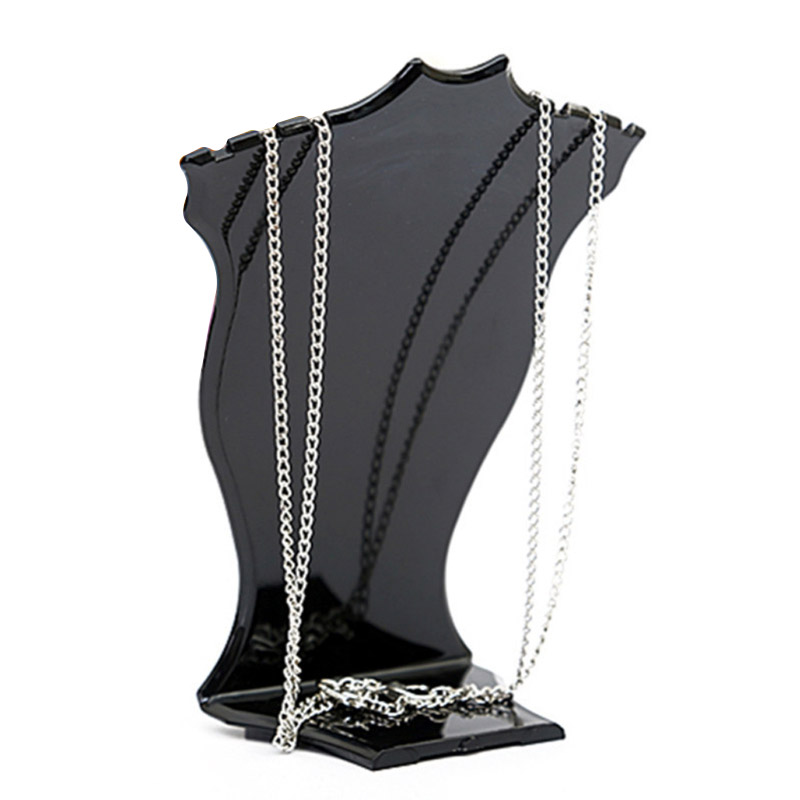 Black/white Jewelry Display Stand Pendant Necklace Chain Holder Earring Bust Display Stand Showcase