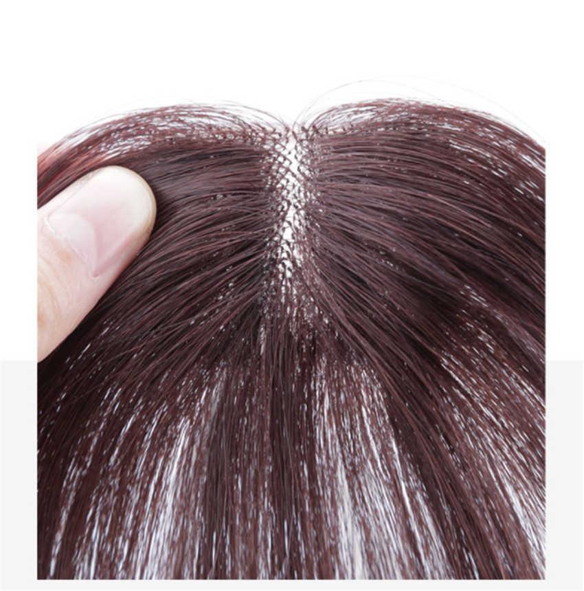 Halo Lady güzellik klip patlama insan saçı hava patlama brezilyalı saç parçaları görünmez dikişsiz olmayan remy yedek saç peruk
