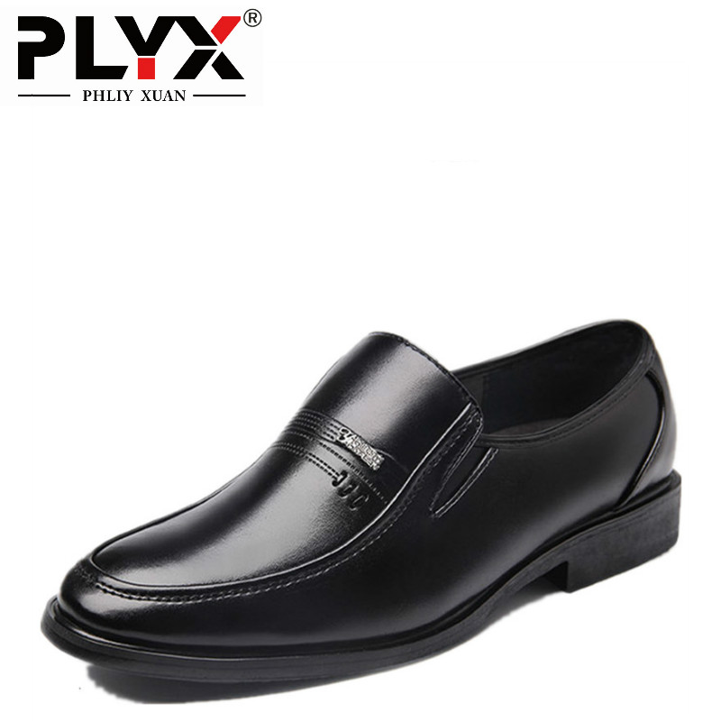 PHLIY XUAN New 2017 Fashion Men Dress Shoes Leather Pointed Toe Classic Black Business Mens Shoes Chaussures Hommes En Cuir