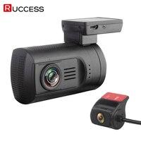 Ruccess DVR 0906 мин. автомобиля видео Регистраторы Ночное видение 170 градусов Dashcam Двойной объектив Full HD 1080p WDR конденсатор Новатэк 96663 DVR