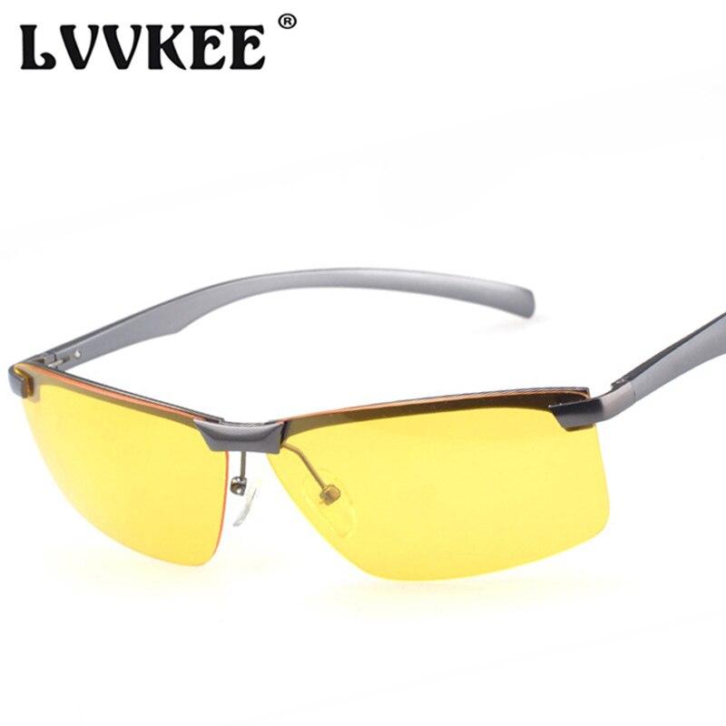 2018 dos homens Venda Quente carro de alumínio-magnésio motoristas  polarizador óculos de sol UV400 Óculos de Condução óculos de visão noturna  anti-brilho 29fbb6d899
