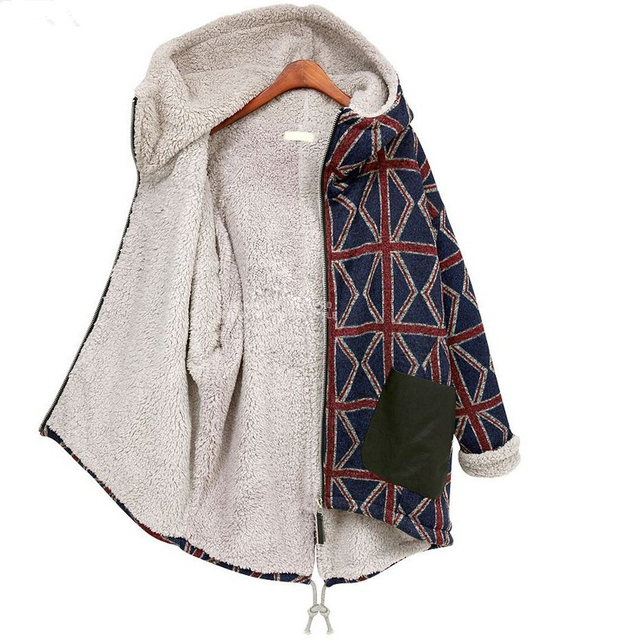 2016 Invierno Europeo de Gran tamaño 5XL Mujeres Parkas escudo escudo nuevas Mujeres de invierno a cuadros Engrosamiento warm coat Mujeres chaqueta 3668 #
