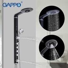 GAPPO ванная комната смеситель для душа системы одной Ручкой клапан латунь Mainbody нержавеющая сталь бар головка настенное крепление Para ванная комната Robinet