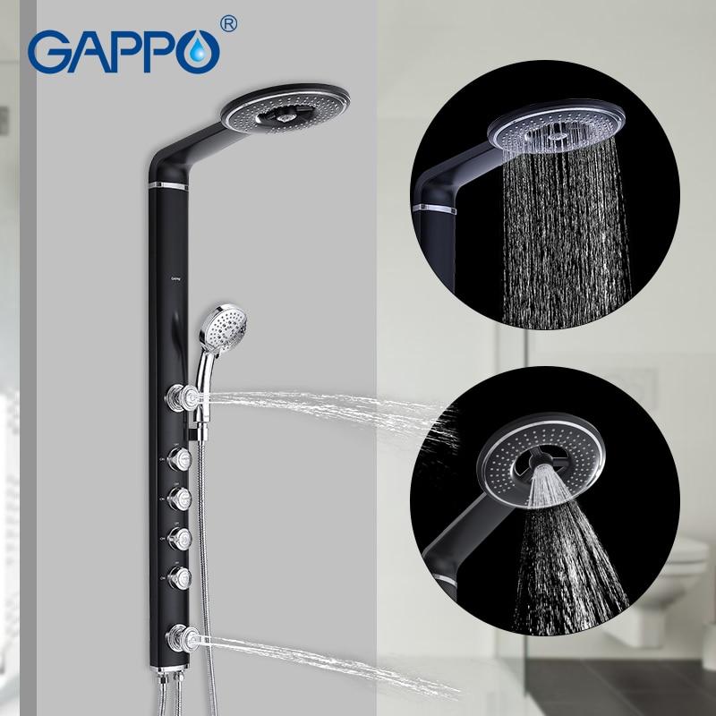 GAPPO Bathroom Shower Faucet System Single Handle Valve Brass Mainbody Stainless Steel Bar Head Wall Mount Para Bathroom Robinet