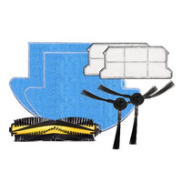 ILIFE V7s Pro Spare Replacement Kits With HEAP Filter MOP Cloth Slide Brush