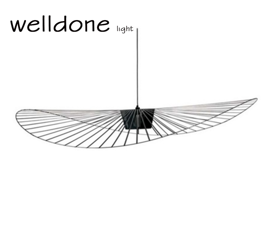 Black iron and polyurethane Extra light friture vertigo Pendant lamp Creative hat personality for restaurant bedroom