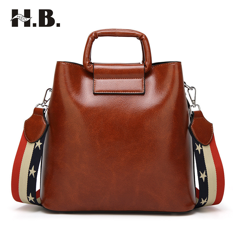 HIBO Hot sale Fashion Designer Women Pu Leather Handbags ladies Shoulder bags tote Bag female Retro Vintage Messenger Bag