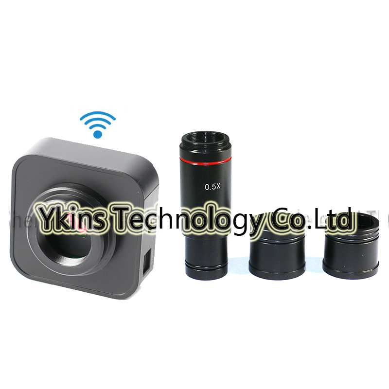 USB WIFI Video Electronics Eyepiece Camera Camera + 0.5X C-Mount for Bio Stereoscopy Microscope Support iOS Android iPhone