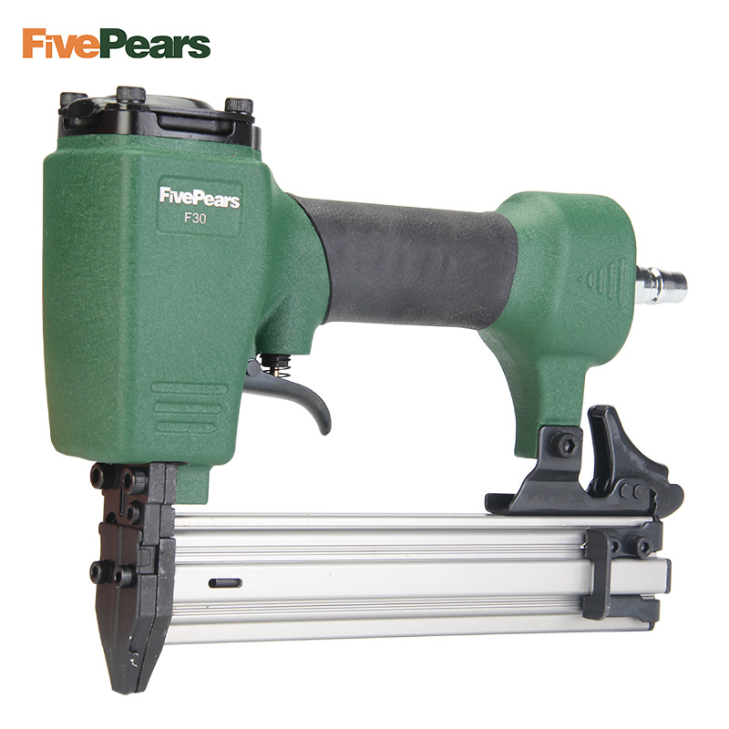 FivePears Air Nailer Gun Straight Nail Gun Pneumatic Nailing Stapler Furniture Wire Stapler F30 dongcheng ff t50dc nail gun air brad nailer 25 50mm straight nail 1 4mm diameter stapler 4 8 bar gun 8mm pipe