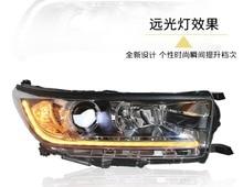 dynamic video,Kluger 2018 2019year 2pcs Bumper Head light For Highlander Headlight LED Taillight DRL Running lights;high lander