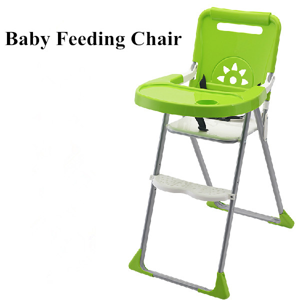 New Baby Chair Portable Infant Seat Product Dining Lunch Chair/Seat Safety Belt Feeding High Chair Harness Baby Chair Seat the silver chair