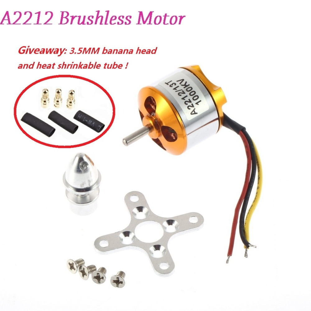 New A2212 930//1000//1400//2200//2700KV Outrunner Brushless Motor For RC Aircraft