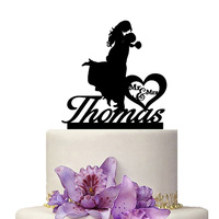 Custom Wedding Decoration Cake Topper Personalize Name Of Bride Groom Mr Mrs Name Wedding Supply Cake