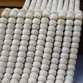 Wholasale 108 Mala Cuentas de Cilindro de Marfil Vegetal Tagua Tallado Budismo Zen Yoga Oración Granos de la Semilla de Curación Para la Joyería de DIY