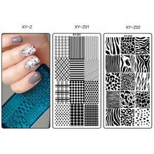 1 x  New XYZ Nail Art Stamping Plates Geometric Manicure Stamping Template Image Plates DIY Nail Stamp Plate Print Stencil XYZ01 недорого