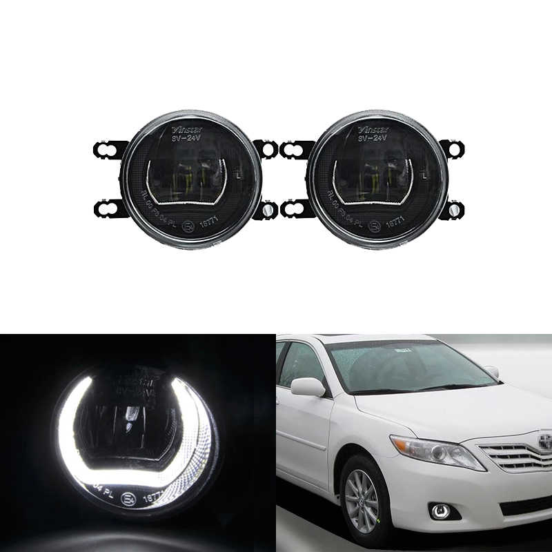 E4 Waterproof White Led DRL Halo W/ Driving Fog Light Kits For Toyota RAV4 Camry Prius Avensis Corolla 4D Auris Yaris Avalon