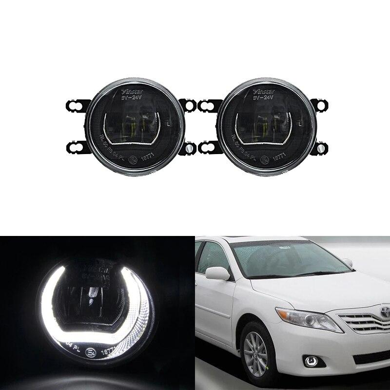 E4 Водонепроницаемый белый Led DRL Halo W/дальнего света тумана Наборы для Toyota RAV4 Camry Prius Avensis Corolla 4D Auris Yaris Avalon