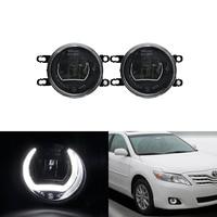 E4 Waterproof White Led DRL Halo W/ Driving Fog Light Kits For Toyota RAV4 Camry Prius Avensis Corolla 4D Auris Yaris Avalon