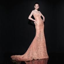 Hot Super Sexy Elegante Spitze Lange Meerjungfrau Abendkleider Vestido De Noite Frauen Dame Formale Abendkleider 2016