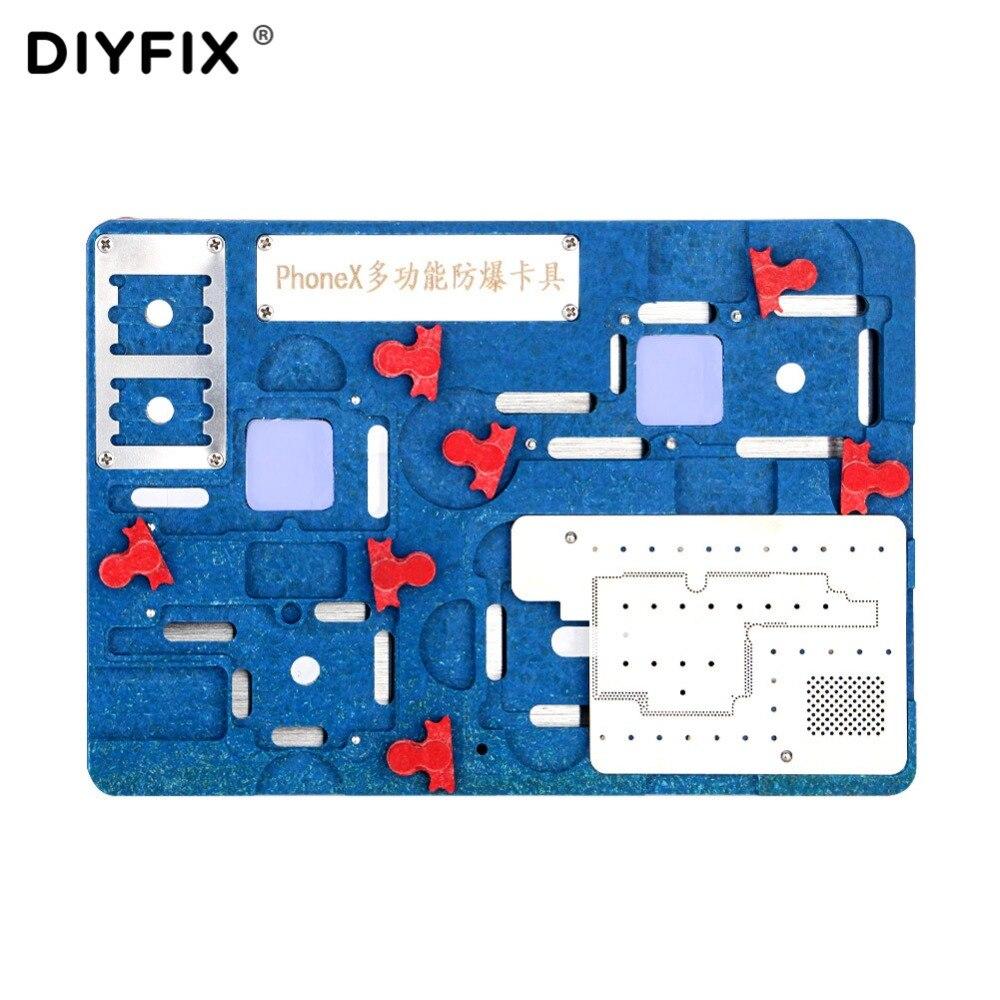DIYFIX Logique Pinces Bord BGA De Réparation Outil pour iPhone X A11 Carte Mère IC Puce Balle À Souder Net Plantation Étain Appareil titulaire