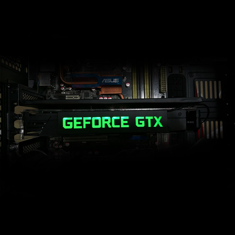 Newest LED For GEFORCE GTX MSI AMD Graphics Decorative Card Luminous Card Nameplate Decorative Plate Personalized Light Board